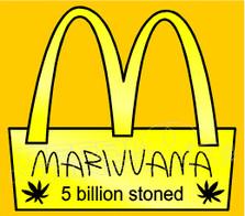 Marijuana Weed Mcdonalds 5 Billion Stoned Decal Sticker
