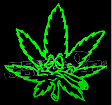 Marijuana Weed Stoned Pot Leaf Decal Sticker