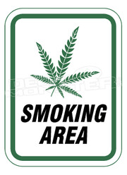 Marijuana Weed Smoking area Permitted Decal Sticker