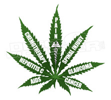 Marijuana Weed Medical Health Benefits Decal Sticker