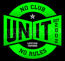 No Club No Rules UNIT Decal Sticker