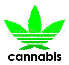 Marijuana Weed Adidas Pot Leaf Decal Sticker