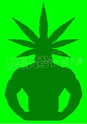 Marijuana Weed Pot Head 1 Decal Sticker