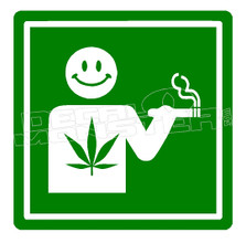 Marijuana Weed Smoking Permitted 1 Decal Sticker