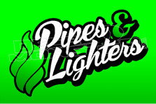 Marijuana Weed Pipes & Lighters Decal Sticker