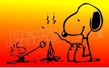 Snoopy Campfire Edition Decal Sticker