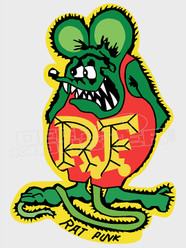 Rat Fink Silhouette 2 Decal Sticker