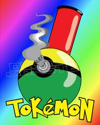 Marijuana Weed Pokemon Tokemon 1 Decal Sticker