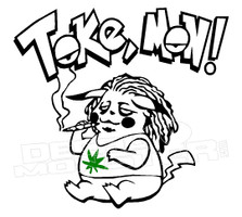 Marijuana Weed Pokemon Tokemon Decal Sticker