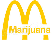 Marijuana Weed Mcdonalds Logo Decal Sticker