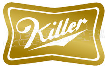 Marijuanna Weed Miller Killer Decal Sticker