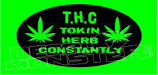 Marijuana Weed THC Edition 1 Decal Sticker