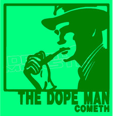 Marijuana Weed The Dope Man Silhouette Decal Sticker