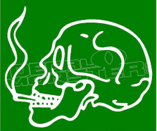 Marijuana Weed Skull Smoker Decal Sticker