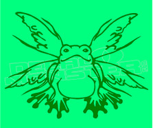 Marijuana Weed Flying Frog Decal Sticker