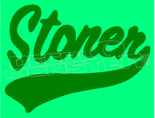 Marijuana Weed Stoner Silhouette 1 Decal Sticker