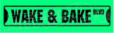 Marijuana Weed Wake & Bake Blvd Decal Sticker