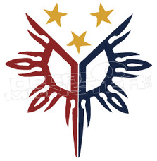 Philippines Sun and Stars Decal Sticker