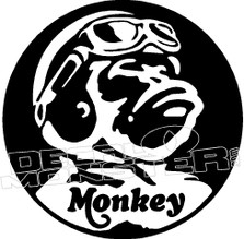 Honda Monkey Z50 Motorcycle Monkey Decal Sticker