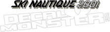 Ski Nautique 2001 Boat Decal Sticker