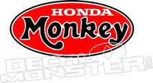 Honda Monkey Z50 Motorcycle  Decal Sticker
