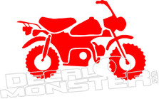 Honda Monkey Z50 Motorcycle Old School Decal Sticker