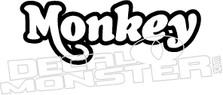 Honda Monkey Z50 2 Motorcycle Decal Sticker