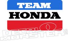 Team Honda Motorcycle Decal Sticker