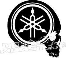 Yamaha Logo Skull Motorcycle Decal Sticker