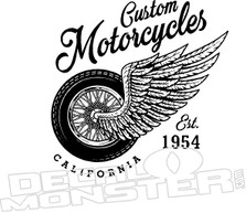 Custom Motorcycles Decal Sticker