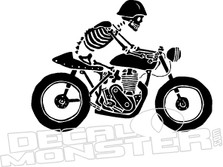 Motorcycle Skeleton Decal Sticker