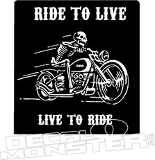 Ride to Live Live to Ride Motorcycle Decal Sticker