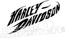 Harley Davidson Lettering Motorcycle Decal Sticker
