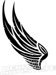 Wing Head Dress Motorcycle Decal Sticker