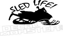Sled Life Decal Sticker