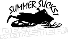 Summer Sucks Sled Decal Sticker