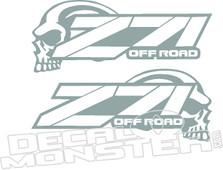 Z71 Offroad Skull Chev Truck Decal Sticker