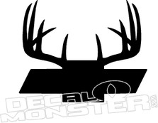 Chevy Bowtie Deer Antlers Truck Decal Sticker