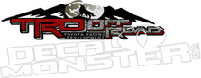 Trd Off Road Toyota Wolf Mountain Decal Sticker
