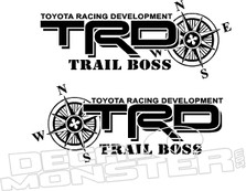 Trd Off Road Trail Boss Toyota Decal Sticker