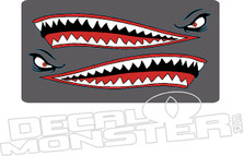 Shark Teeth Boat Decal Sticker