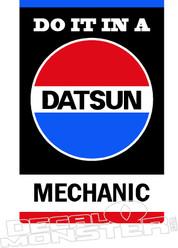 Datsun Mechanic Decal Sticker