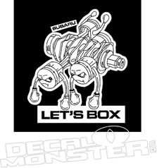 Lets Box Subaru Engine JDM Decal Sticker
