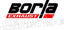 Borla Exhaust Automotive Decal Sticker