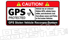 Caution GPS Protected Vehicle Decal Sticker