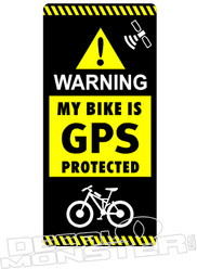 Warning My Mountain Bike is GPS Protected Decal Sticker
