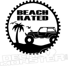 Jeep Beach Rated Decal Sticker