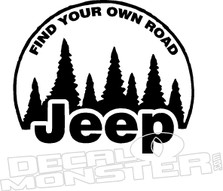Jeep Find Own Road Decal Sticker
