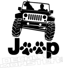 Jeep Dog Paws Decal Sticker
