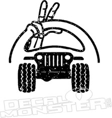 Jeep Wave Steering Wheel Decal Sticker